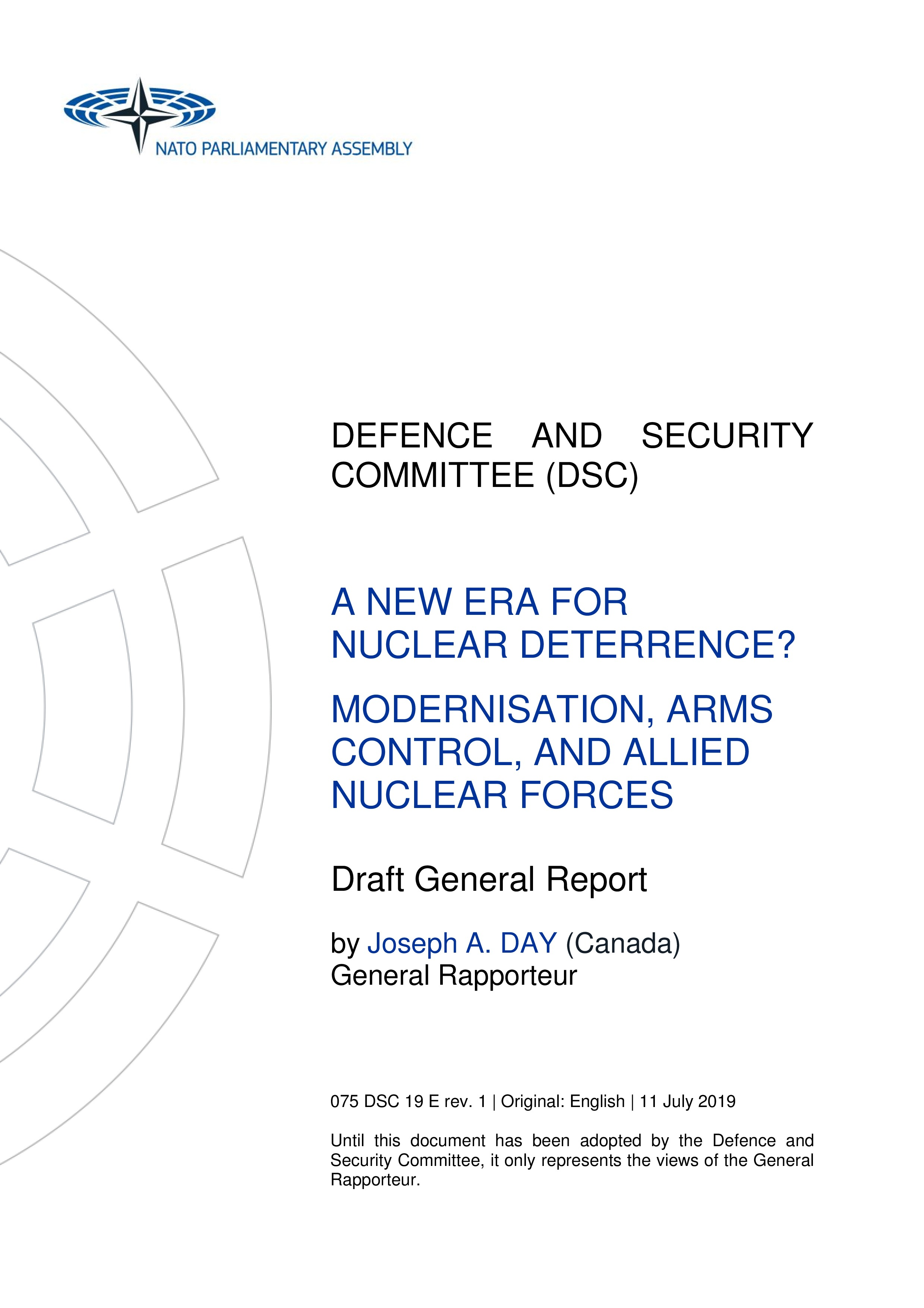 2019 - A NEW ERA FOR NUCLEAR DETERRENCE? MODERNISATION, ARMS